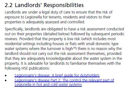 Legionella Risk Assessment form for landlords - The Legionella Risk ...